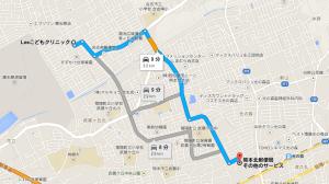 熊本北局からの道順